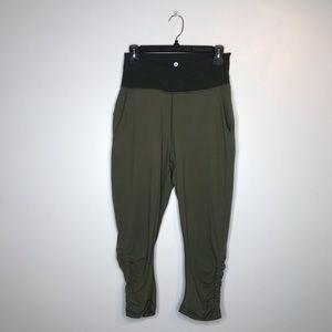 Lululemon Green Athletic Cinch Pants Size 6 J104